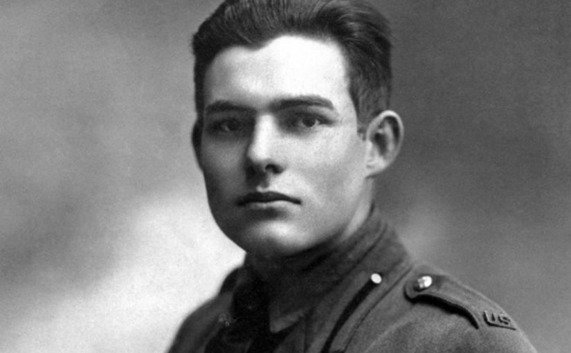 Ernest Hemingway in uniform in Milan