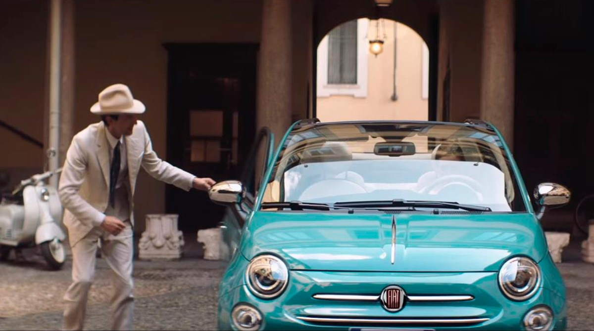 Adrien Brody at Fiat 500 commercial