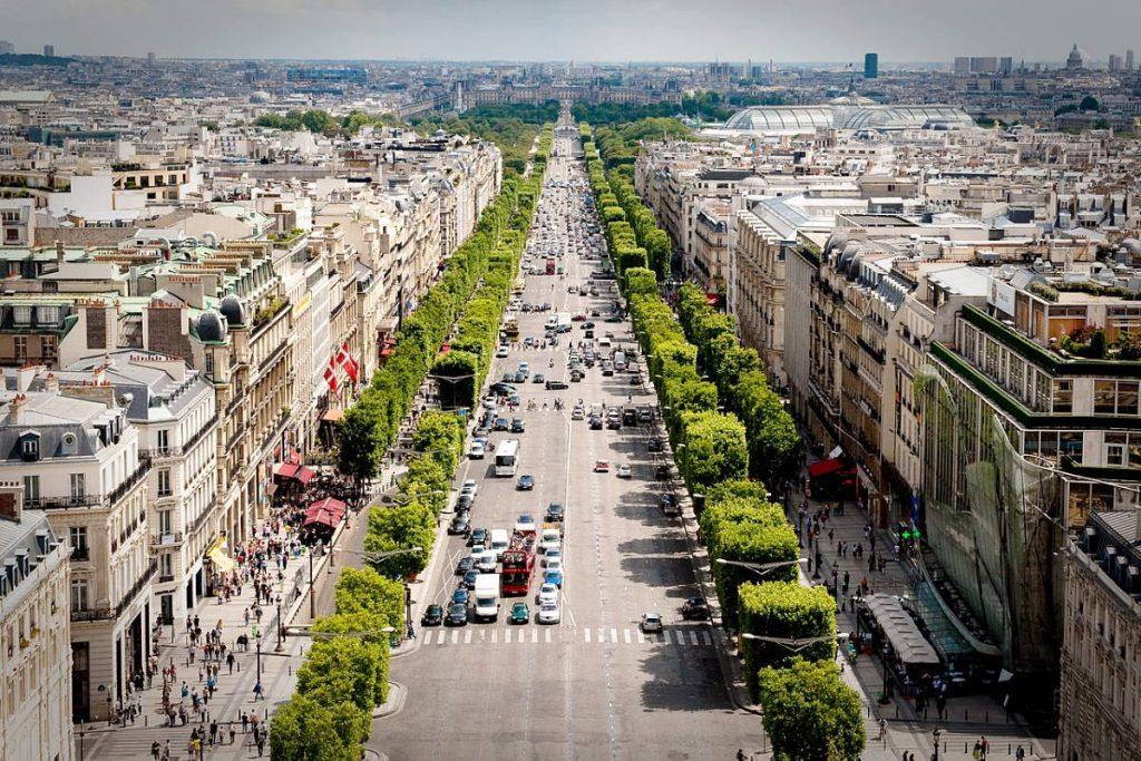 Avenue des Champs-Élysées view from the Arc de Triomphe